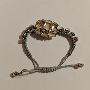 Yellow and Clear Crystal Bracelet